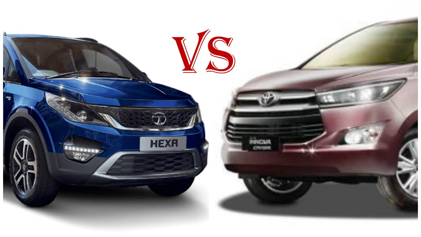 tata hexa vs toyota innova crysta price features and specifications based comparison find. Black Bedroom Furniture Sets. Home Design Ideas