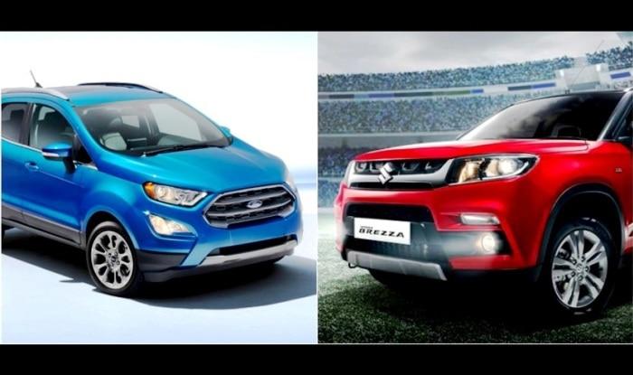 Ford Ecosport Facelift Vs Maruti Vitara Brezza Comparison Launch Date Price In India Interior Images