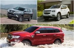 All-New Toyota Fortuner vs Ford Endeavour vs Chevrolet TrailBlazer – Spec based comparison