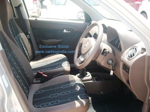 Maruti Suzuki Alto 800 interiors shown in detail
