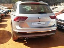 Volkswagen Tiguan spied at a dealership in Bangalore