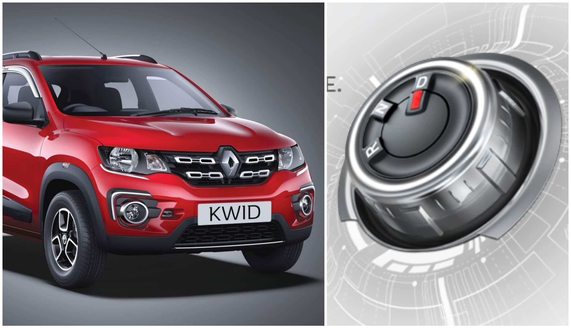 Renault Kwid Amt Teased  To Get A Rotary Gear Knob