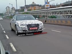 2013 Frankfurt Motor Show: Audi A8 facelift spied in India