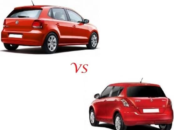Comparison Maruti Swift Vs Volkswagen Polo : Compare Price & Technical Specifications