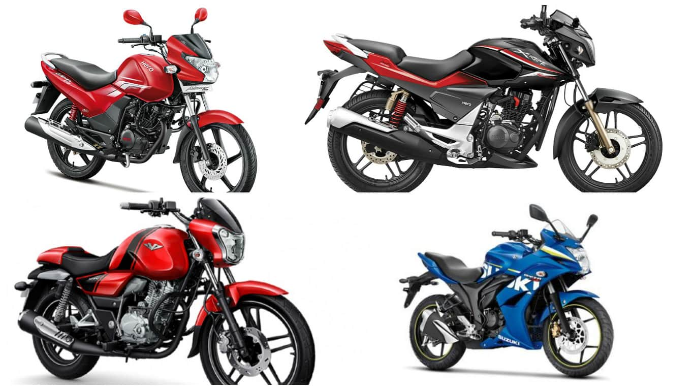 top 5 most online searched 150cc motorcycles in india in 2016 | find