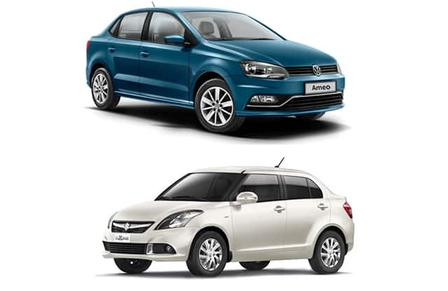 Volkswagen Ameo diesel vs Maruti Swift Dzire diesel - Price, Specification, Mileage and Features