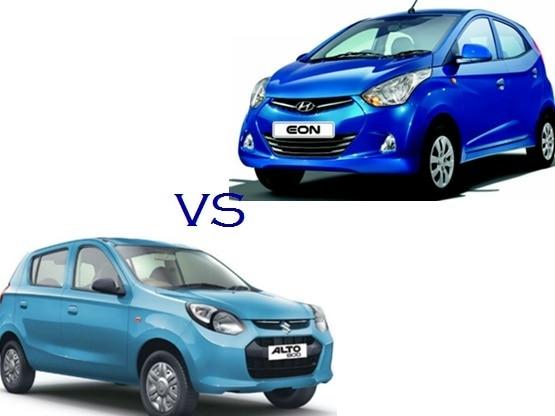 Comparison Maruti Suzuki Alto 800 Vs Hyundai Eon: Compare Price & Technical Specifications
