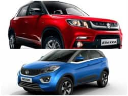 Tata Nexon vs Maruti Vitara Brezza – Comparison: India Price, Specs, Features, Variants, Colours, Interior