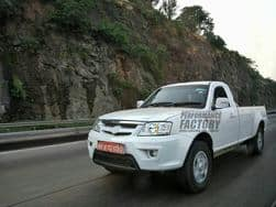 Tata Xenon Facelift emerges testing in Western India