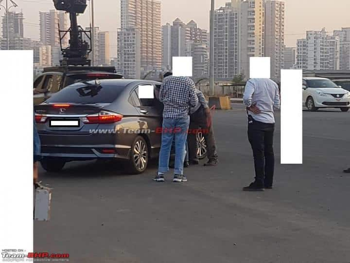 2017 Honda City facelift caught on road while shooting a commercial