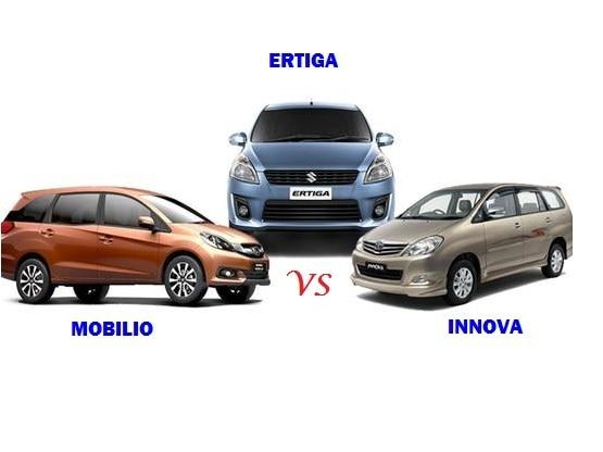Comparison Honda Mobilio Vs Maruti Suzuki Ertiga Vs Toyota Innova: compare price & technical specifications