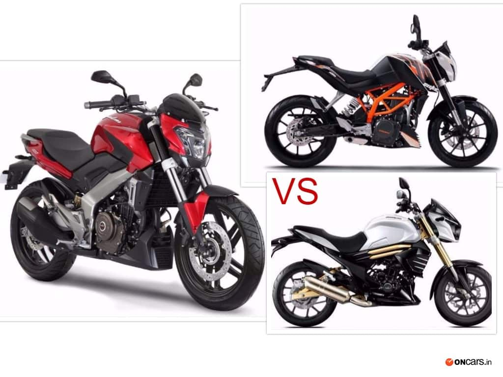 Bajaj Dominar 400 vs KTM 390 Duke vs Mahindra Mojo explained in detail