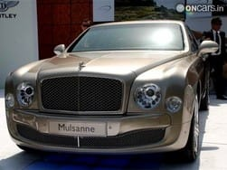 Bentley Mulsanne India tour kicks off today