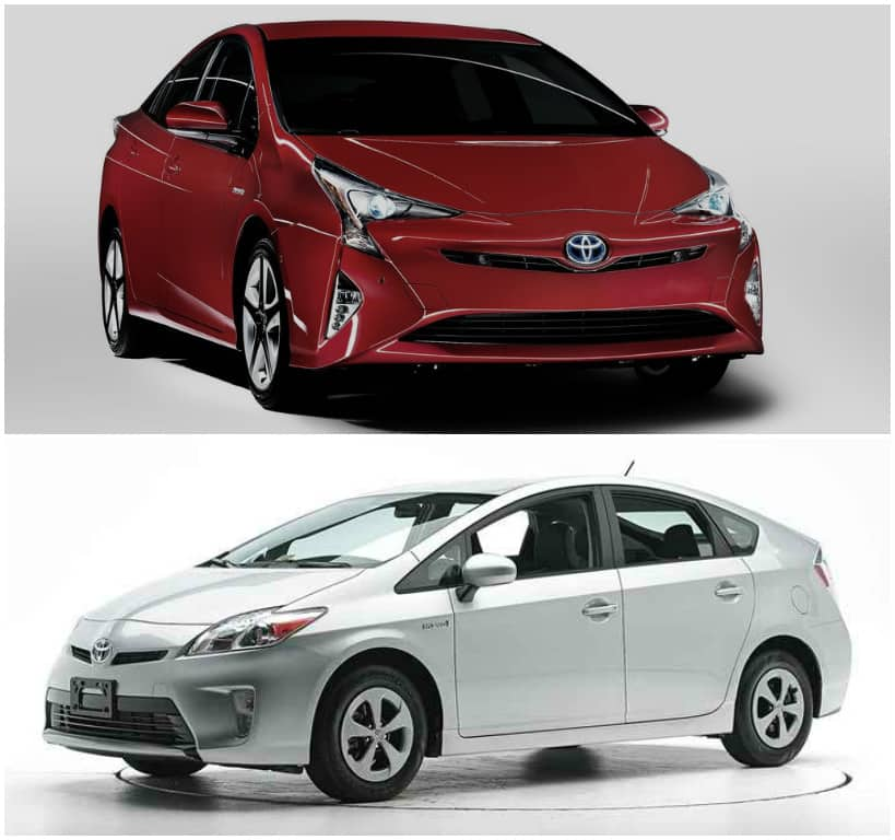 All new 2016 Toyota Prius Vs Old Toyota Prius