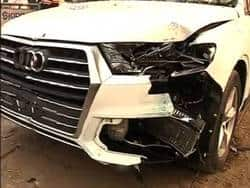 Speeding Audi Q7 takes down the IAF officer