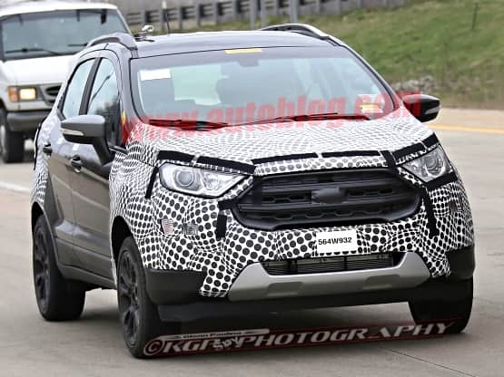 Spotted 2017 Ford EcoSport Reveals Front Facia India Launch By Next Year