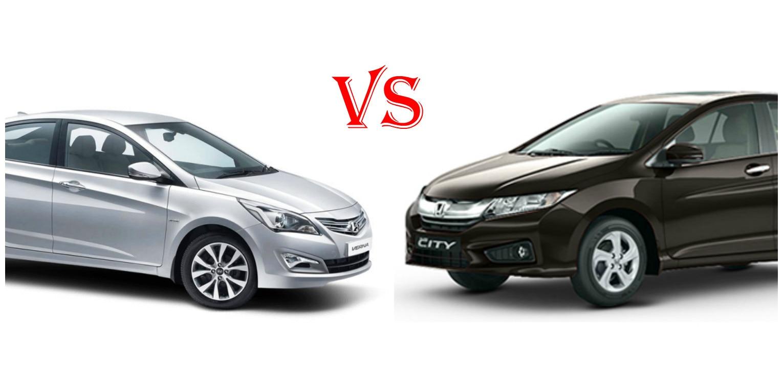 Honda City Petrol Vs Hyundai Verna Petrol Spec Based Comparison