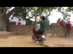 Crazy bike world: Viral video, if you think girls could swing, then look once again