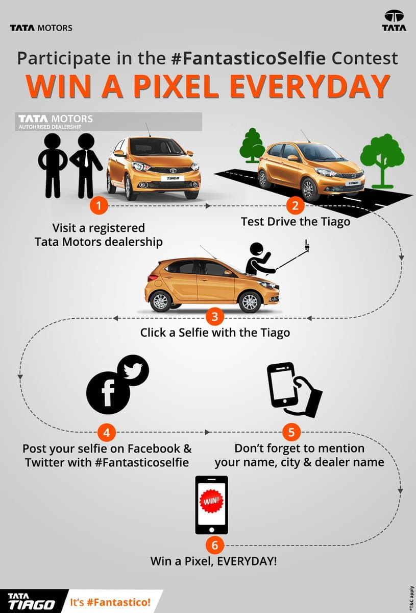 Tata Tiago Selfie offer: Stand a chance to win Google Pixel phone everyday
