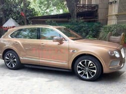 Bentley Bentayga spotted before launch on 22nd April