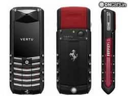 Vertu Ascent Ti Ferrari Edition phone