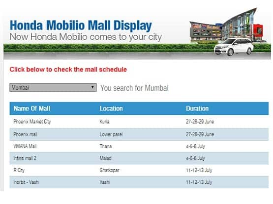 new car launches honda mobilioHonda Mobilio India launch Honda starts displaying Mobilio in