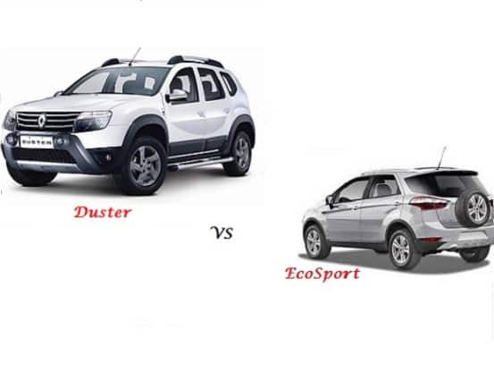 Comparison Ford EcoSport Vs Renault Duster Compare Price Technical Specifications