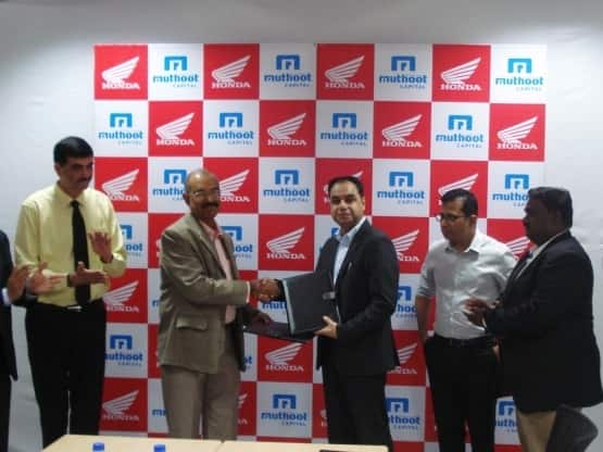 Honda joins hand with Muthoot Capital Services for two wheelers