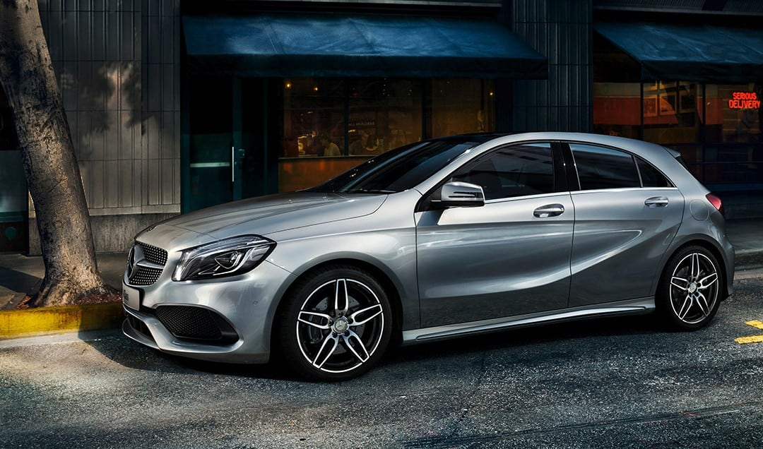 mercedes benz launches a class and b class night edition