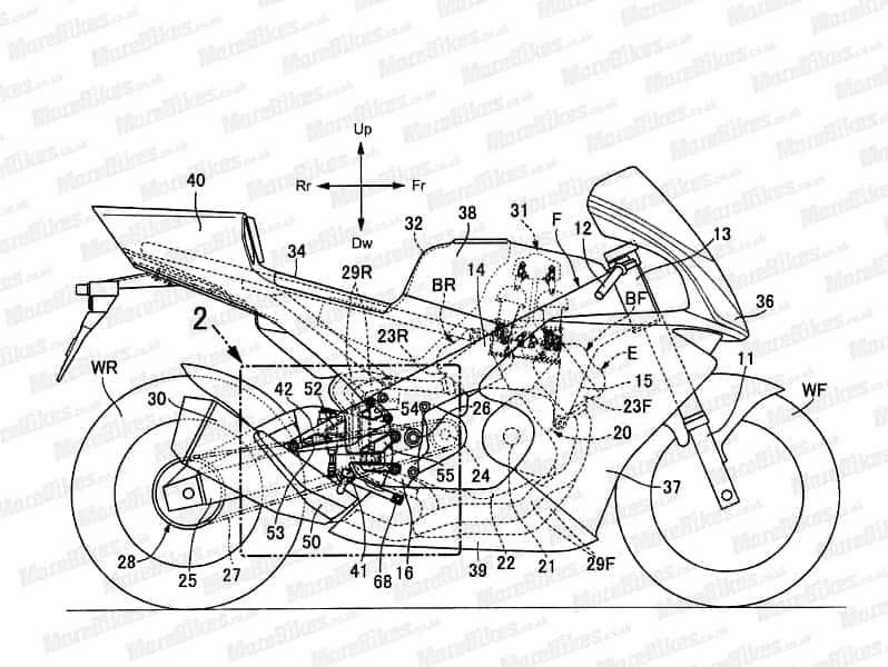 honda v4 superbike under works  design images leaked