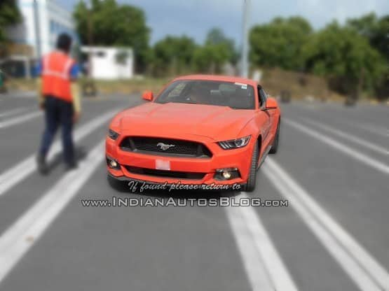 Ford Mustang Gt Again Spotted Testing In India Get Latest Pictures Specifications And More