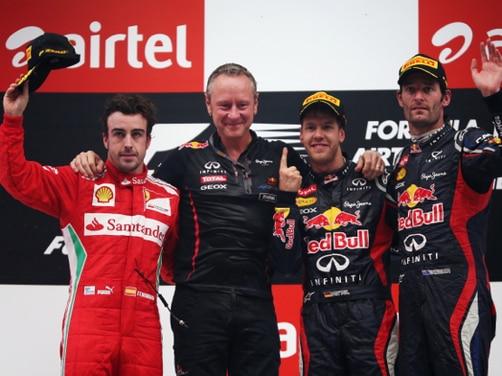 Sebastian Vettel wins the 2012 Formula1 Indian GP