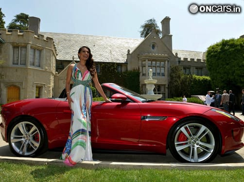 2013 Playboy Playmate of the Year wins 2014 Jaguar F-Type