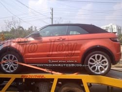 Spotted: Range Rover Evoque Convertible Spied in India