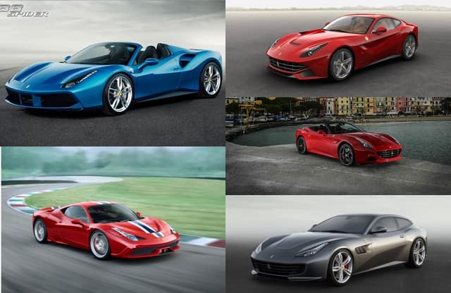 Top 5 Ferrari Cars In India