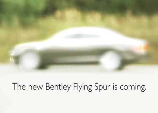 Video: New Bentley Continental Flying Spur teased