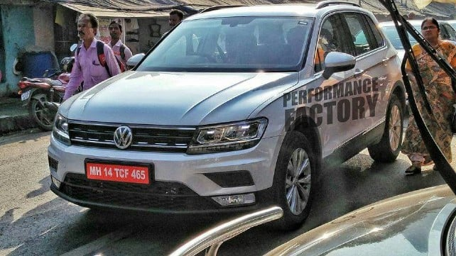 Volkswagen Tiguan XL (long-wheelbase) spotted completely undisguised in India ahead of its launch