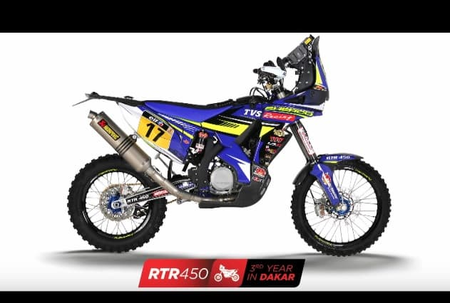 Tvs Releases Official Video On Its Rtr 450 Dakar Rally Bike Find