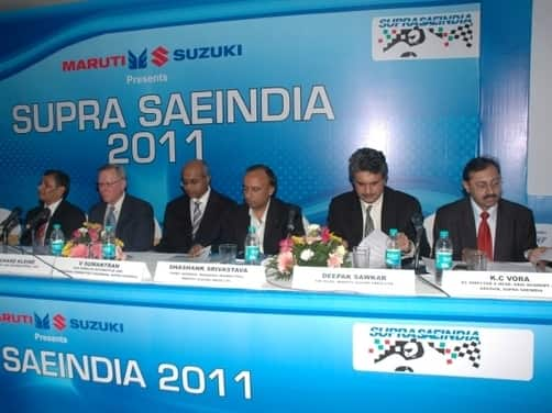 Maruti Suzuki announces support for the SUPRA SAE 2011 competition