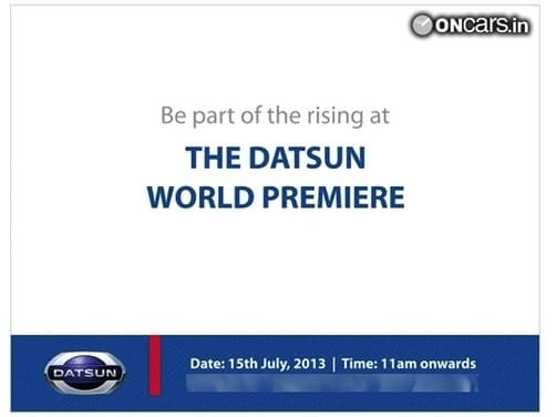 Datsun will launch in India on July 15, 2013