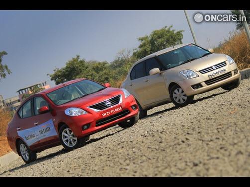 Nissan Sunny vs Maruti Suzuki Swift Dzire: Design