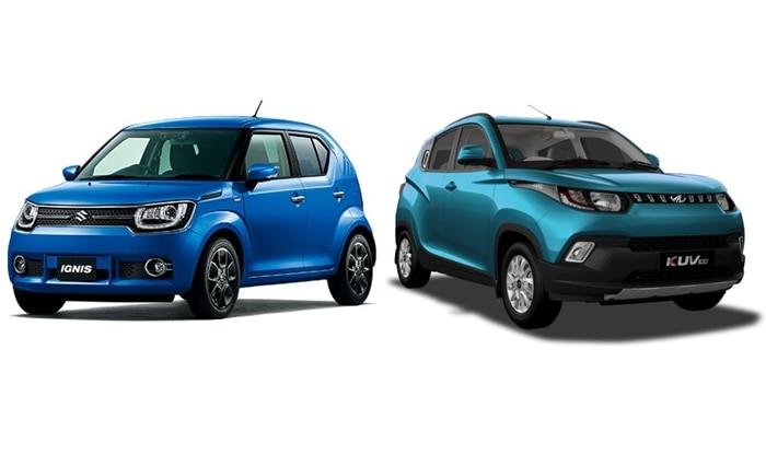 Maruti Suzuki Ignis Vs Mahindra Kuv100 Price Specifications