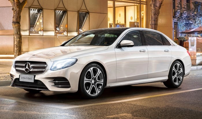 Live mercedes benz e class launch in india get live for Mercedes benz lowest price