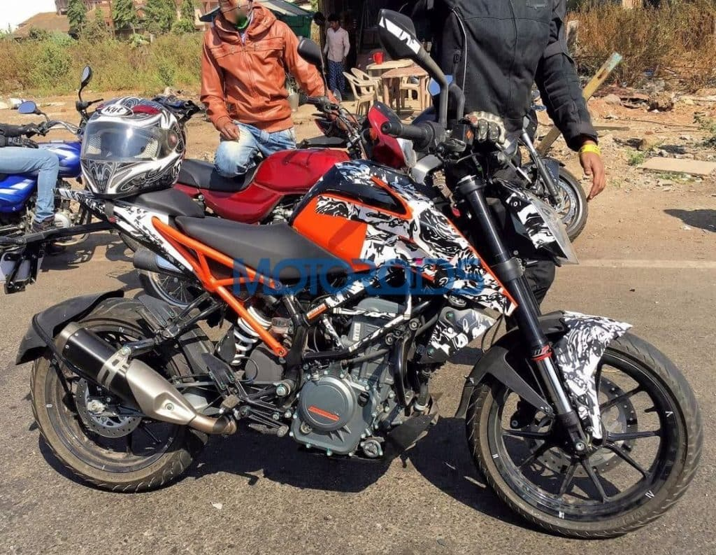 2017 Ktm 250 Duke Spied In India For The First Time India Launch