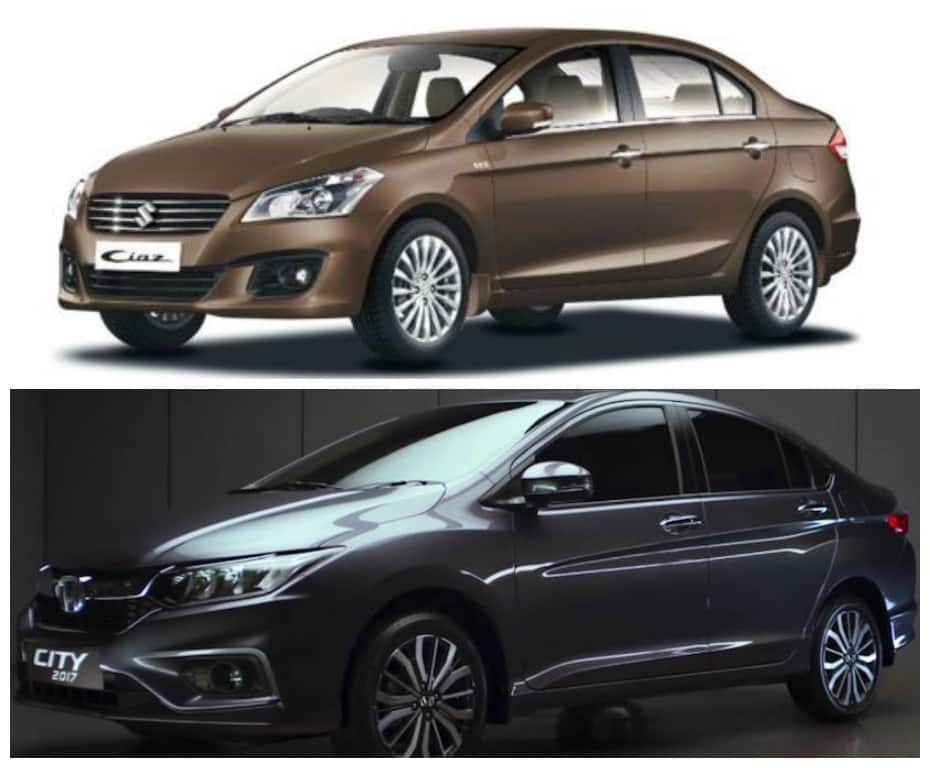 maruti suzuki ciaz vs honda city 2017 price in india specification and features find new. Black Bedroom Furniture Sets. Home Design Ideas
