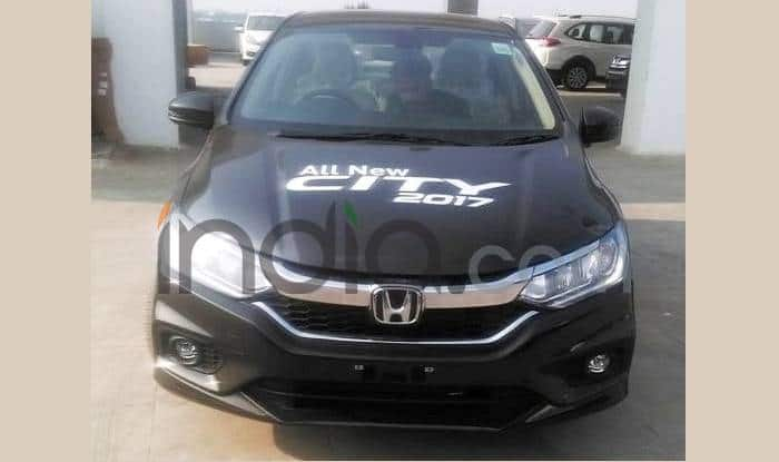Honda City 2017 Demo Car Spied At Dealership Before India Launch On 14  February