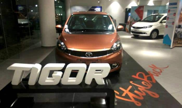 Tata Tigor put on display at showrooms prior to its official launch; To be offered in 6 colour options