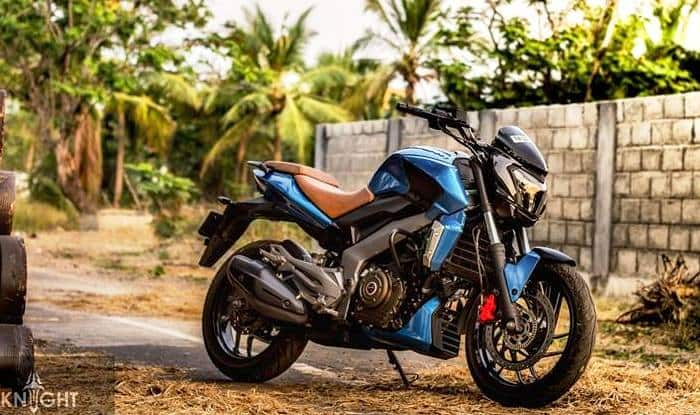 Bajaj Dominar 400 with custom wrap