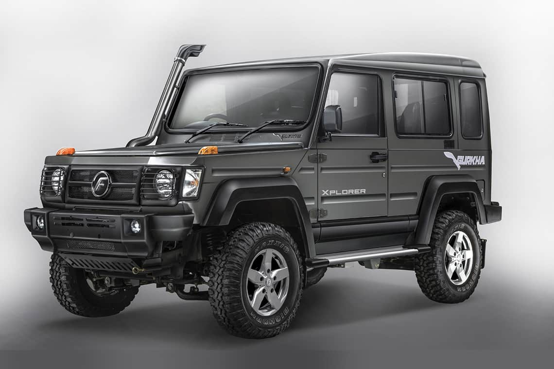 Force Gurkha 2017 launched in India at INR 8.38 Lakhs ...
