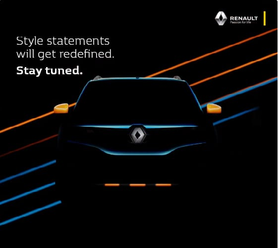 Renault KWID Climber teased; launch date is 9th March in India